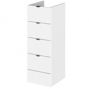 Hudson Reed Fitted Drawer Unit 300mm Wide - Gloss White