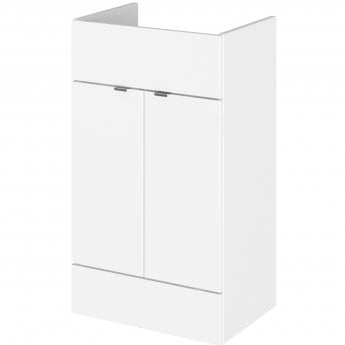 Hudson Reed Fitted Vanity Unit 500mm Wide - Gloss White