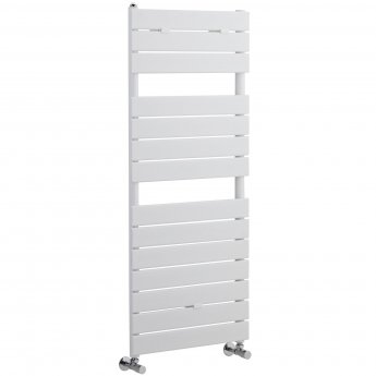 Heatwave Flat Panel Designer Heated Towel Rail 1213mm H x 500mm W - White