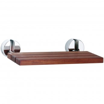 Hudson Reed Foldable Shower Seat, 345mm Projection, Chrome Hinges