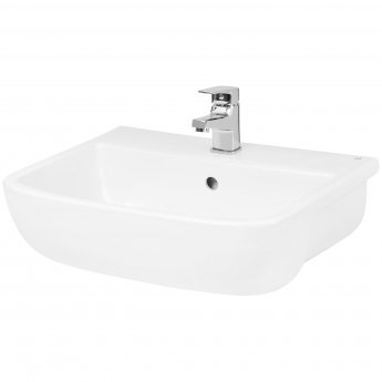 Hudson Reed Fossil Semi Recessed Basin 520mm Wide - 1 Tap Hole