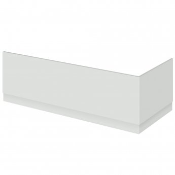 Hudson Reed Fusion Bath End Panel and Plinth 560mm High x 750mm Wide - Gloss Grey Mist