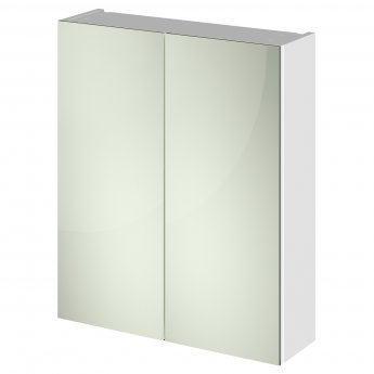 Hudson Reed Fusion Mirror Unit (50/50) 600mm Wide - Gloss White