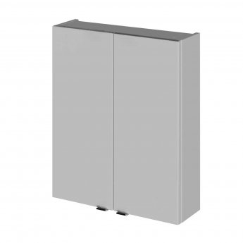 Hudson Reed Fusion Bathroom Cabinet 500mm Wide - Gloss Grey Mist