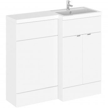 Hudson Reed Fusion RH Combination Unit with 500mm WC Unit - 1000mm Wide - Gloss White
