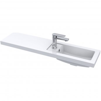 Hudson Reed Fusion Compact Combination Unit with Slimline Basin - 1000mm Wide - Gloss Grey