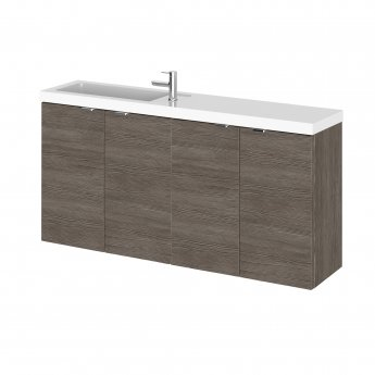 Hudson Reed Fusion Compact Combination Unit with 250mm Base Unit - 1000mm Wide - Brown Grey Avola