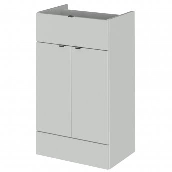 Hudson Reed Fusion Base Unit 500mm Wide - Gloss Grey Mist