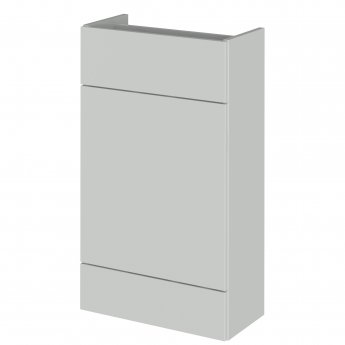 Hudson Reed Fusion RH Combination Unit with 500mm WC Unit - 1500mm Wide - Gloss Grey Mist
