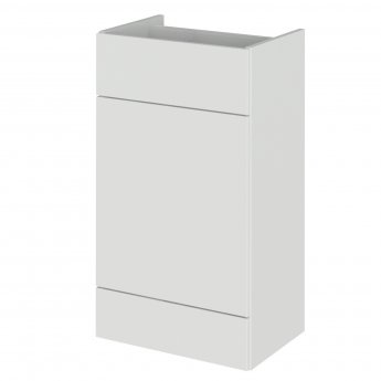 Hudson Reed Fusion Back to Wall WC Unit 500mm Wide - Gloss Grey Mist