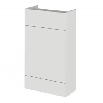 Hudson Reed Fusion Compact Back to Wall WC Unit 500mm Wide - Gloss Grey Mist