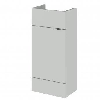 Hudson Reed Fusion Compact Floor Standing 1-Door Vanity Unit 400mm Wide - Gloss Grey Mist