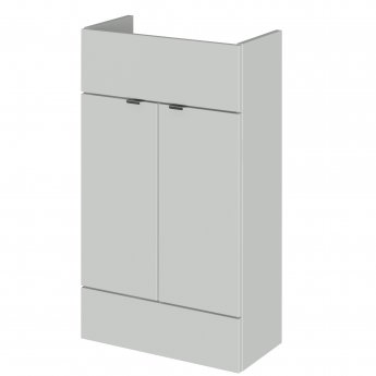Hudson Reed Fusion Compact Combination Unit with Slimline Basin - 1000mm Wide - Gloss Grey Mist