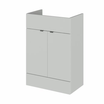 Hudson Reed Fusion RH Combination Unit with 600mm WC Unit - 1500mm Wide - Gloss Grey Mist