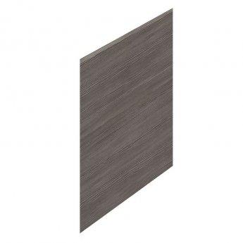 Hudson Reed MDF Straight Bath End Panel and Plinth 550mm H x 750mm W - Brown Grey Avola