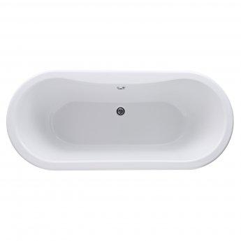 Hudson Reed Grosvenor Freestanding Bath, 1700mm x 745mm, Deacon Leg Set