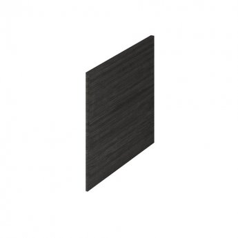 Premier Athena Square Shower Bath End Panel 520mm H x 700mm W - Hacienda Black