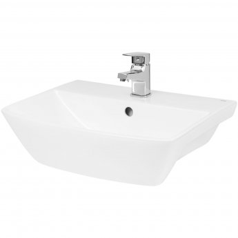Hudson Reed Hamnet Semi Recessed Basin 500mm Wide - 1 Tap Hole