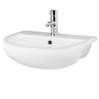 Hudson Reed Harmony Semi Recessed Basin, 500mm Wide, 1 Tap Hole