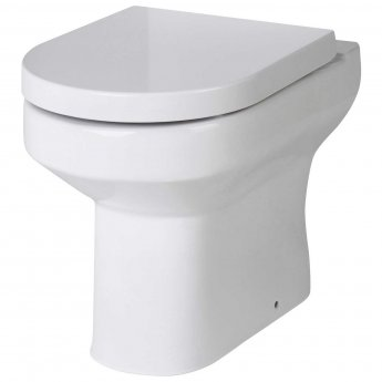 Hudson Reed Harmony Back To Wall Pan 380mm Wide - Soft Close Seat