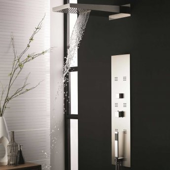 Hudson Reed Interval Dream Thermostatic Shower Tower Panel 6 Jets - Stainless Steel