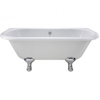 Hudson Reed Kenton Back to Wall Freestanding Bath 1700mm x 750mm - Corbel Legs
