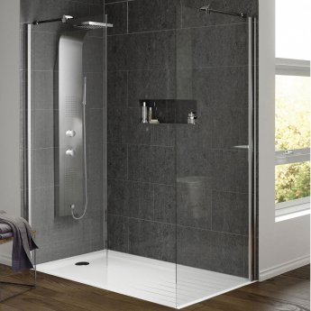 Hudson Reed Lava Dream Thermostatic Shower Tower Panel 2 Jets - Stainless Steel