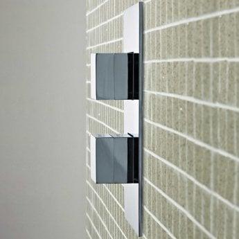Hudson Reed Lennox Concealed Shower Valve Dual Handle - Chrome