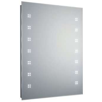 Hudson Reed Lucid Bathroom Mirror 800mm H x 600mm W - Chrome