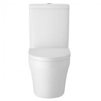 Hudson Reed Luna Semi Flush-to-Wall Toilet with Cistern - Soft Close Seat