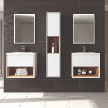 Hudson Reed Lustre Bathroom Mirror 700mm H x 500mm W