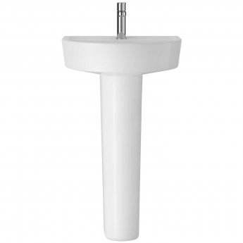 Hudson Reed Marlow Basin and Full Pedestal 425mm Wide - 1 Tap Hole