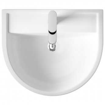 Hudson Reed Marlow Basin and Full Pedestal 520mm Wide - 1 Tap Hole