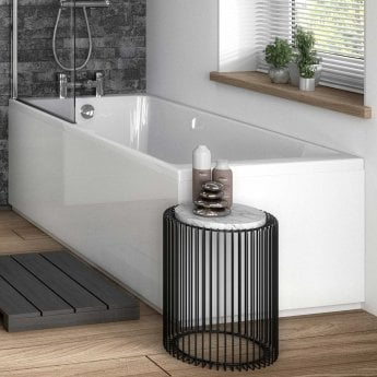 Hudson Reed MDF Straight End Bath Panel and Plinth 700mm Wide - Gloss White