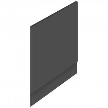 Hudson Reed MDF Straight End Bath Panel and Plinth 700mm Wide - Gloss Grey