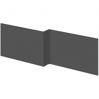 Hudson Reed MFC Square Shower Front Bath Panel 1700mm Wide - Gloss Grey