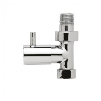 Hudson Reed Minimalist Straight Radiator Valves Pair with Concealing Plates- Chrome