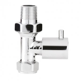 Hudson Reed Minimalist Straight Radiator Valves Pair - Chrome