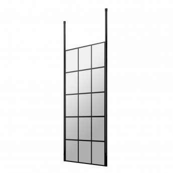 Hudson Reed Frame Effect Wet Room Screen with Ceiling Post 700mm Wide - 8mm Glass