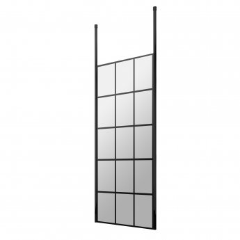 Hudson Reed Frame Effect Wet Room Screen with Ceiling Post 760mm Wide - 8mm Glass