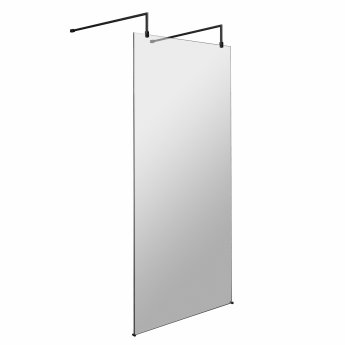 Hudson Reed Wet Room Screen with Support Bar and Feet 900mm Wide - 8mm Glass