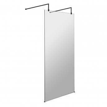 Hudson Reed Wet Room Screen with Support Bar and Feet 1000mm Wide - 8mm Glass