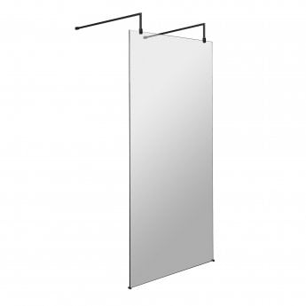 Hudson Reed Wet Room Screen with Support Bar and Feet 1100mm Wide - 8mm Glass