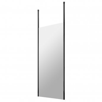Hudson Reed Wet Room Screen with Ceiling Post 800mm Wide - 8mm Glass