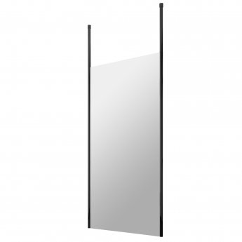 Hudson Reed Wet Room Screen with Ceiling Post 1000mm Wide - 8mm Glass