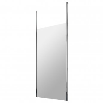 Hudson Reed Wet Room Screen with Chrome Ceiling Post 1100mm Wide - 8mm Glass