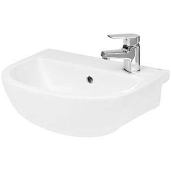 Hudson Reed Oculus Semi Recessed Basin 400mm Wide - 1 Tap Hole