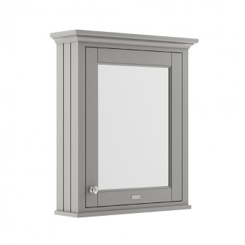 Hudson Reed Old London Mirrored Bathroom Cabinet 650mm Wide - Storm Grey