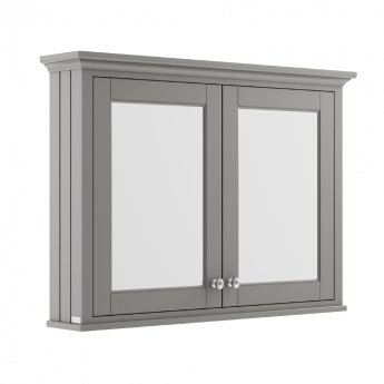 Hudson Reed Old London Mirrored Bathroom Cabinet 1050mm Wide - Storm Grey
