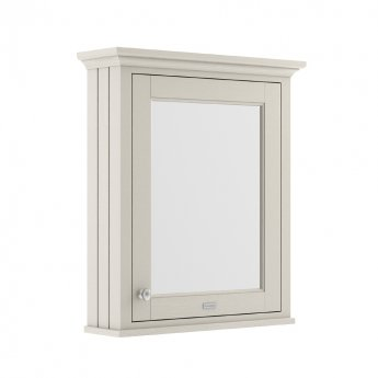 Hudson Reed Old London Mirrored Bathroom Cabinet 650mm Wide - Timeless Sand